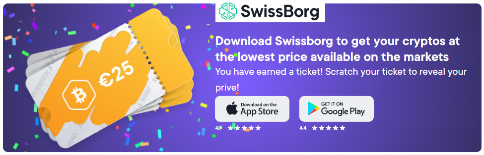 Download Swissborg app to invest in cryptos